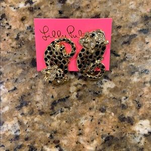 Lilly Pulitzer cheetah earrings